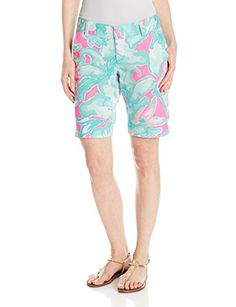 Lilly Pulitzer Womens Chipper Bermuda Short Tropical Pin LF Pink Sands 2 ** Learn more by visiting the image link.