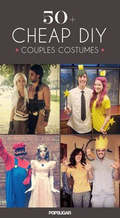 80 Cheap and Original DIY Couples Halloween Costumes For 2019 With this trick-or-treat celebration just around the corner, these 57 DIY couples costumes are not only effortless to make but also up your outfit creativity level.