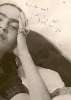 lostclause:  Lunch Break Writing In A Book Of Frida Kahlo's Beautiful Body