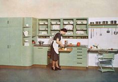 Our very first post is a special dedication to our master, the late all rounder. You have truly been an inspiration to all of us at thanks for everything sir! 50s Kitchen, Vintage Kitchen, Retro Kitchens, 60s Furniture, Colour Schemes, Oeuvre D'art, Interior Inspiration, Kitchen Design, Desk