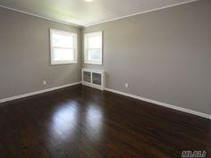Image result for dark wood gray walls white trim