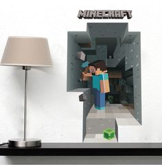 Best Price! Minecraft wall Stickers Minecraft 3D Wall Paper for Kids Room Decoration Christmas Gift Free Shipping-in Wall Stickers from Home & Garden on Aliexpress.com | Alibaba Group