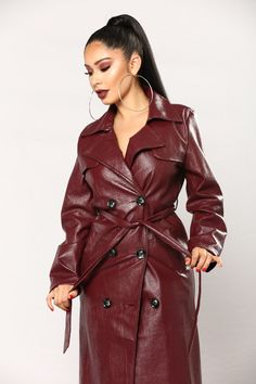 If Looks Could Kill Jacket - Burgundy