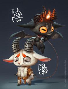 Yin Yang by Silverfox5213.deviantart.com on @DeviantArt