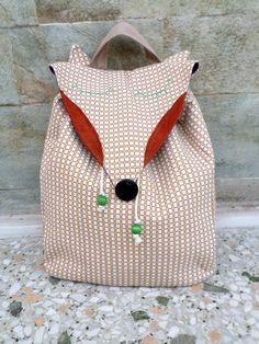 The fox backpack by MariasHappyThoughts on Etsy