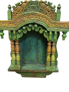 Antique Green Temple Prayer Indian Shrine By MOGULGALLERY On Etsy Furniture  Furniture Furniture Vintage Retro Architecturals India Wooden Furniture  Temple ...
