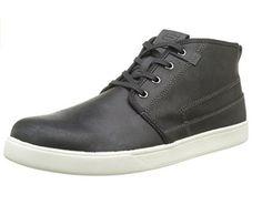 64875 Black Skechers Shoes Men's Memory Foam Comfort Midtop Boot Leather casual  #Skechers #midtop