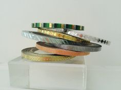 Foil Thinner Width Washi Tape in 7 Patterns by GoatGirlMH on Etsy
