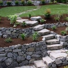 Large backyard landscaping ideas are quite many. However, for you to achieve the best landscaping for a large backyard you need to have a good design. Stone Backyard, Small Backyard Gardens, Backyard Garden Design, Terrace Garden, Backyard Designs, Garden Oasis, Big Garden, Easy Garden, Backyard Ideas
