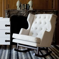 LOVE this rocking chair! Could easily transition to the living room, too!
