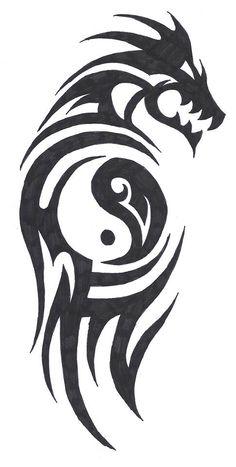 Ying Yang Dragon made by Anouk De Wert!