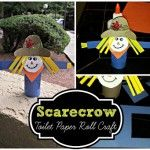 Scarecrow Toilet Paper Roll Craft For Kid's (Halloween & Fall Idea!)