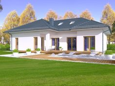 DOM.PL™ - Projekt domu DPS Madera 4 CE - DOM DPS1-34 - gotowy koszt budowy Gazebo, Pergola, Villa, Outdoor Structures, Mansions, House Styles, Outdoor Decor, Home Decor, Wood