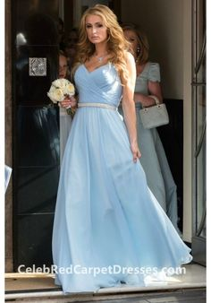 Paris Hilton Blue Bridesmaid Dress on Nicky Hilton's wedding