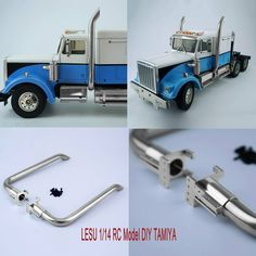 LESU Spare Metal Exhaust Pipe for 1//14 RC TAMIYA MAN Tractor Truck DIY Model Car