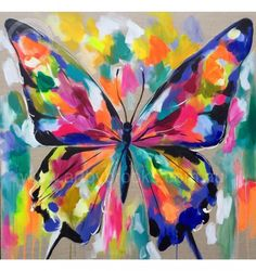 Hand painted with acrylic , ink and oil on artist Belgian linen canvas made to the highest standard. Simply the best products are used to ensure they are among Butterfly Painting, Butterfly Watercolor, Butterfly Wallpaper, Butterfly Art, Flower Art, Watercolor Paintings, Butterflies, Acrylic Art, Acrylic Painting Canvas