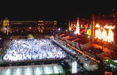 En Navidad se monta una gigantesca pista de hielo en el zócalo de México D.F. Además, puedes checar otras opciones en http://www.boxvot.mx/Rankings/Donde-divertirse-en-Navidad-en-el-DF