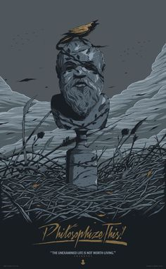 Socrates poster by Conrado Salinas