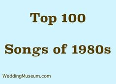 Best 1980s Music is a list of the most popular songs of the 1980s to hit the charts and become hits in American culture. Celebrate songs from the 1980s