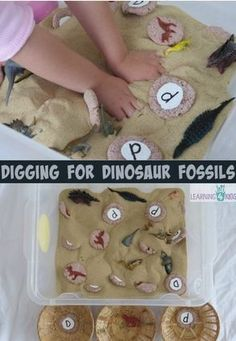 Digging For Dinosaur Fossils Sensory Bin-pinned by @PediaStaff – Please Visit ht.ly/63sNtfor all our pediatric therapy pins