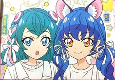 Pretty Cure, Pretty And Cute, 2 Best Friends, Mode Kawaii, Anime Dress, Glitter Force, Girls Series, Best Friend Pictures, Animated Cartoons