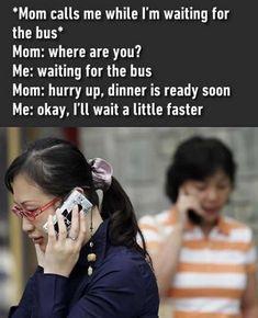 Wait a little faster.