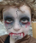 easy bloody zombie face painting - Google Search