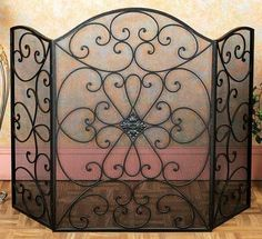 Black Metal Mesh Fireplace Screen | Overstock.com Shopping - The Best Deals on Decorative Screens