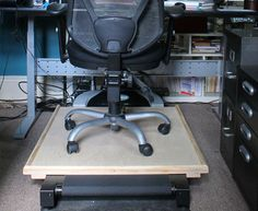 DIY Under Desk Treadmill Examples | curated by workwhilewalking.com Treadmill Desk, Room Wanted, Workout Rooms, Gaming Chair, Tiny House, Diy Ideas, Exercise, Space, Fitness