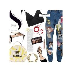 """""""Night' casual look"""" by rossperdicita ❤ liked on Polyvore featuring FOSSIL, Ashish, Zara, T By Alexander Wang, Kate Spade, Kenneth Jay Lane and NARS Cosmetics"""