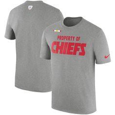 13bf4507 Men's Nike Heather Gray Kansas City Chiefs Sideline Property Of Facility T- Shirt