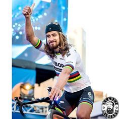 Double rainbows down under. Peter Sagan TDU 2017 by beardmcbeardy Olympic Sports, Beautiful Wife, Pro Cycling, Super Bikes, World Championship, Rainbows, Mtb, Olympics, Crushes