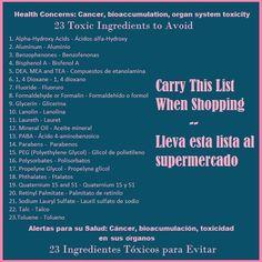 To avoid toxicity in your body Source: http://www.greenamerica.org/ -- Para evitar la toxicidad en su cuerpo