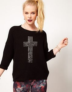 Hearts & Bows Cross Studded Jumper