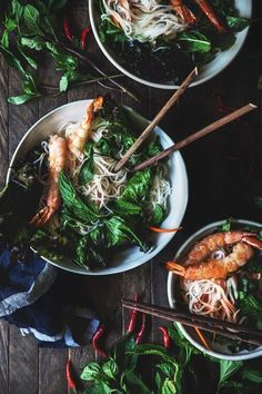 Grilled Prawn Noodle