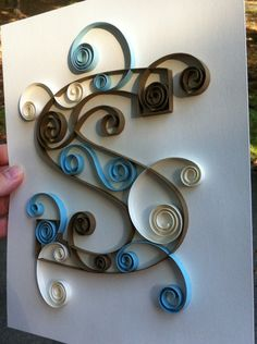 Custom Created Quilled Monogram 8x10 S by Allthingsmadebykelly, $20.00