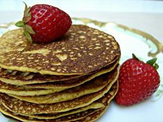 Grain Free Pumpkin Pancakes - eggs, pumpkin puree, cinnamon, coconut oil (for the pan), toppings of choice (butter, honey, maple syrup, fruit butter, etc.)