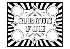 circus party printables