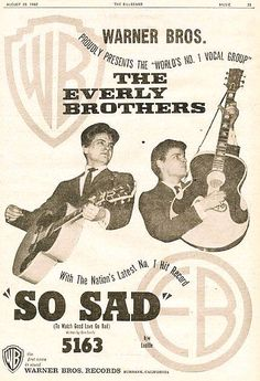 Promo poster from So Sad by Everly Brothers