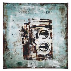 being obsessed with photography and old cameras...i love this canvas print!