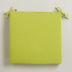 One of my favorite discoveries at WorldMarket.com: Apple Green Outdoor Chair Pad