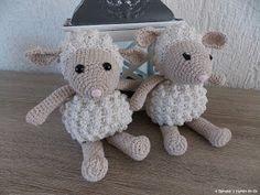 Schaapjes (met link naar gratis patroon) / sheep (with link to free pattern)