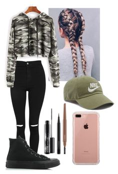 """""""Untitled #95"""" by f16victoria ❤ liked on Polyvore featuring Topshop, Converse, MAC Cosmetics, Belkin and NIKE"""