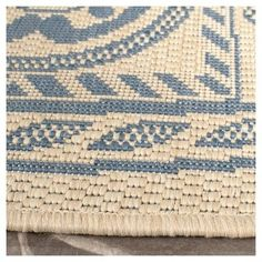 "Ermont 2'3"" X 6'7"" Runner Outer Patio Rug - Natural / Blue - Safavieh"