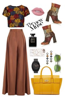 """""""Hello Fall♡"""" by reyna-mxrie on Polyvore featuring Mulberry, Alice + Olivia, Chloé, Ray-Ban, Zimmermann, Casetify, Lime Crime and DANNIJO"""