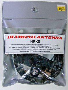 Mounts: Diamond Hrks Adhesive Mount For Antennas With Uhf Base Free Shipping -> BUY IT NOW ONLY: $69.95 on eBay!
