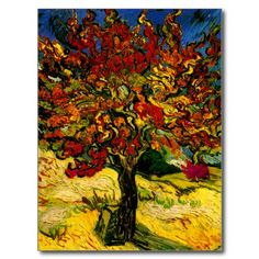 Van Gogh Mulberry Tree Fine Art Postcard