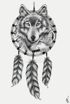 Wolf Dreamcatcher design by ~RozThompsonArt on deviantART