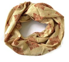 Red Compass Infinity Scarf BY MEGHNA DAVE