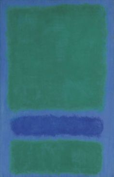 Green, Blue, Green on Blue, 1968, by Mark Rothko